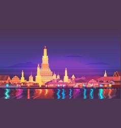 thailand travel around vector image vector image