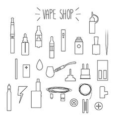 The linear icons vape vector