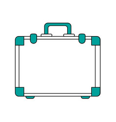 travel suitcase bag vector image