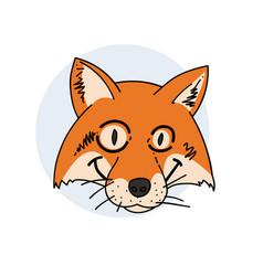 Tricky fox face vector