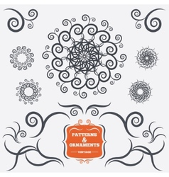 Vintage geometric ornaments decorative design vector