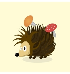 Animal hedgehog cartoon vector