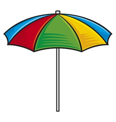 Colorful beach umbrella vector