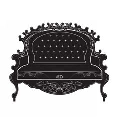 Rich baroque sofa vector