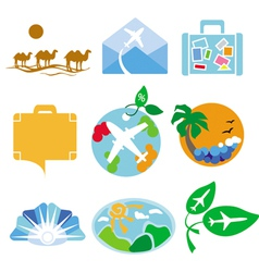 Collection of logos for travel agencies vector image