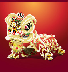 chinese lion cartoon vector image