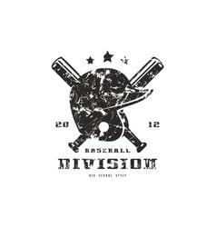 emblem of baseball team graphic design for t-shirt vector image