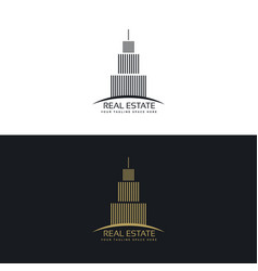 Real estate or hotel logo design template vector