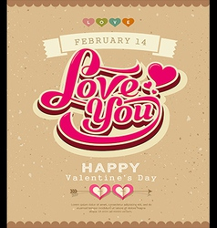 Happy valentine message classic banner vector