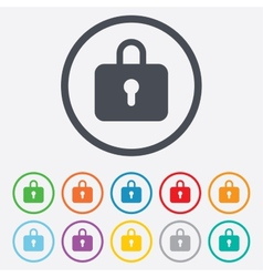 Lock sign icon locker symbol vector