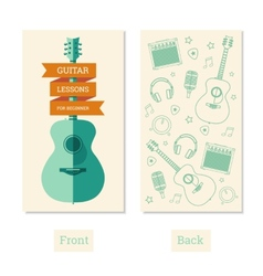 Guitar lessons vector
