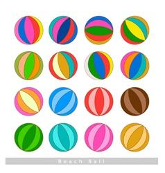 Set of Beach Balls on White Background vector image