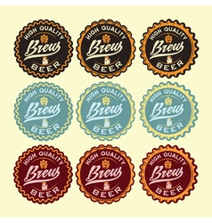 Set of vintage beer labels vector