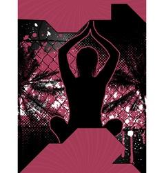 Yoga grunge poster vector