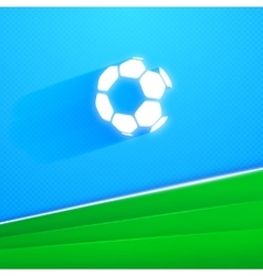 Flying soccer ball vector