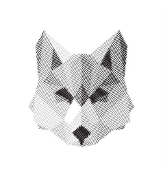 Wolf engraved sign illyustrat animals vector