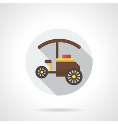 Tricycle shop flat color round icon vector image