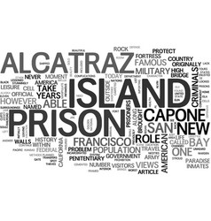 A prison in paradise text word cloud concept vector