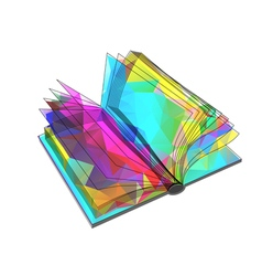 Abstract triangular book vector