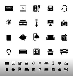 Bedroom icons on white background vector image