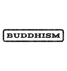 Buddhism watermark stamp vector