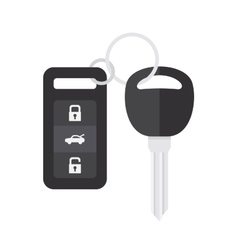 Car Key with Remote Control vector image vector image