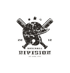 Emblem of baseball team graphic design for t-shirt vector