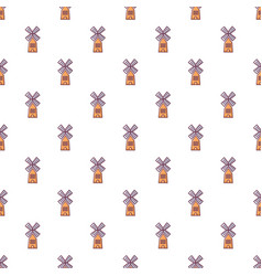 Farm windmill pattern seamless vector