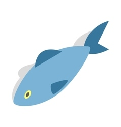 Fish icon isometric 3d style vector image vector image