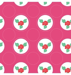 Floral pattern with roses on light background vector image vector image