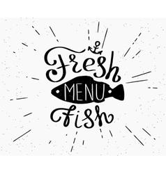 Freash fish menu vector image