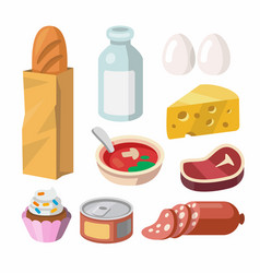 Fresh food and drink vector