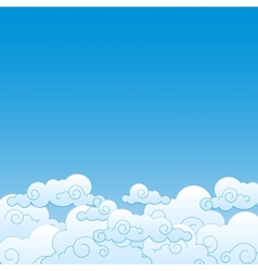 Good weather background Blue sky with clouds vector image vector image