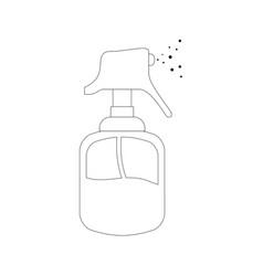 Hairdressing dispenser bottle vector