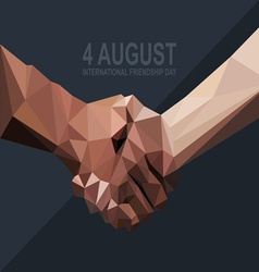 Happy friendship day card 4 August vector image vector image