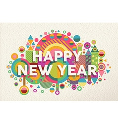 Happy new year 2015 quote poster vector image