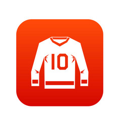 Hockey jersey icon digital red vector