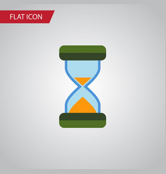 Isolated waiting flat icon hourglass vector