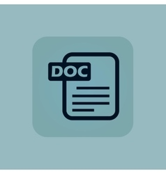 Pale blue DOC file icon vector image vector image