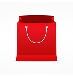 Red shopping bag vector