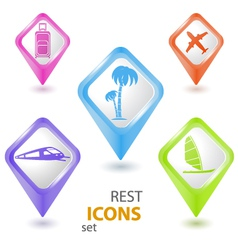 Rest pointer set vector image