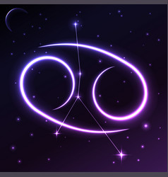 Space symbol of cancer of zodiac and horoscope vector