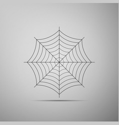 Spider web icon on grey background cobweb sign vector