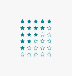 Star rating in blue color vector
