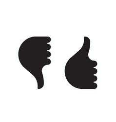 thumb up down hand icon vector image