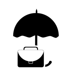 umbrella and briefcase icon vector image vector image