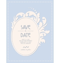 Vintage wedding invitation card with floral frame vector image
