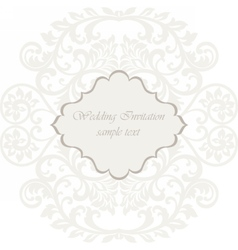 Wedding lace card vector