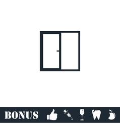 Window icon flat vector