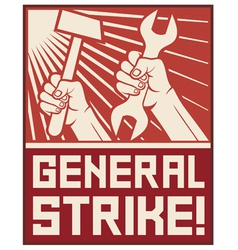 General strike poster vector
